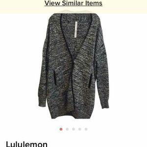 Lululemon open sweater/cardigan with button closur